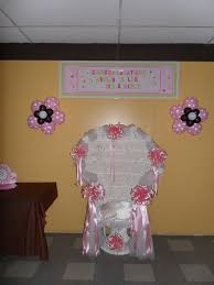 baby shower wall decorations baby shower brown pink and white party decorations by teresa