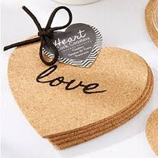 cork coasters heart cork coasters coaster wedding and party favors wedding