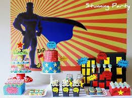 Superhero Backdrop 41 Amazing Superhero Birthday Parties Spaceships And Laser Beams