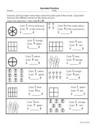 equivalent fractions worksheet lots of worksheets