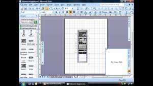 Home Floor Plan Visio by Creating Rack Diagrams Using Visio Youtube
