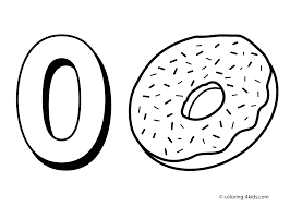 0 numbers coloring pages for kids printable free digits coloring