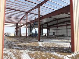 Build A Shop 100 U2032 X 125 U2032 Shop Office Pre Engineered Metal Building Taking Shape
