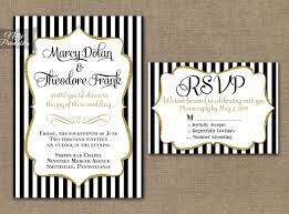 black and gold wedding invitations black white striped gold wedding invitations nifty printables