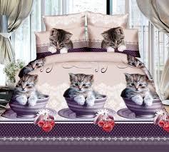 3d cat bedding set linen duvet cover set bed sheet pillowcases