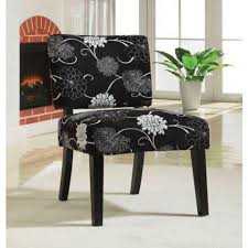 Black And White Accent Chair Flower Patterns U2014 Home Decor Chairs