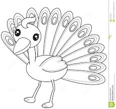 peacock coloring page stock illustration image 50448518