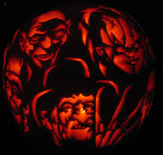 scary halloween pumpkin carving ideas a bunch of scary dudes