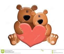 teddy bears holding valentine heart stock photo image 3909670