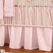 Solid Pink Crib Bedding Solid Pink Crib Skirt Gathered Carousel Designs