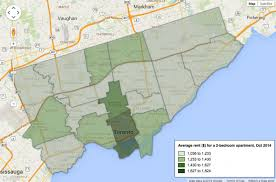 One Bedroom Apartment Toronto For Rent Map Apartment Rental Costs Across Toronto Rhb Magazine