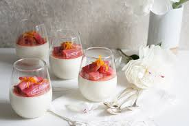 orange blossom panna cotta with a rhubarb compote autoimmune