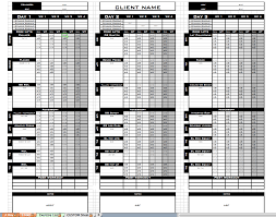Workout Excel Template Excel Personal Templates Excel Designs