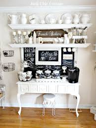 Kitchen Coffee Bar Ideas 40 Ideas To Create The Best Coffee Station Junk Chic Cottage