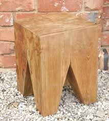 Indoor Teak Furniture Garden Stools Indoor Or Outdoor Teak Stools Or Side Tables In