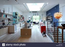 selling home interior products a designer retail shop selling home and house products stock photo