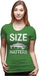 Disney Clothes For Juniors Amazon Com Women U0027s Size Matters Fish T Shirt Funny Fishing Shirt