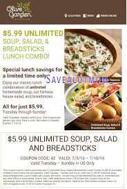 olive garden 5 99 for unlimited soup salad and breadsticks