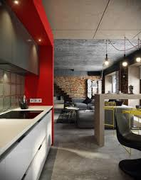 red interior design 5 houses that put a modern twist on exposed brick