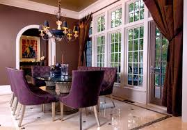 Modern Purple Dining Room Designs - Purple dining room