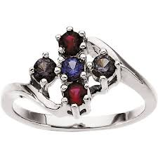 silver mothers ring silver 1 to 8 stones s ring