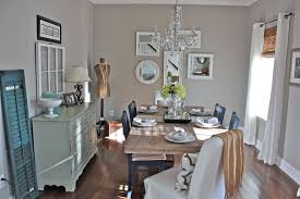 sherwin williams anew gray for a shabby chic style dining room