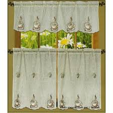 Coffee Print Kitchen Curtains Kitchen Curtains Coffee Cup Design Peenmedia Com