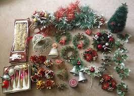 lot vintage decorations glass baubles wreaths