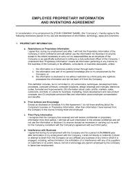 proprietary agreement template 100 images fedr system security