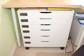 Desk Storage Drawers Organization Top Five Ikea For Craft Storage Scrapbook Update