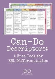 can do descriptors a free tool for esl differentiation cult of