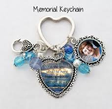 in memory of keychains memorial keychain your loved one s photo on one side