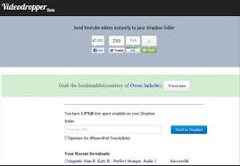 dropbox youtube download videodropper online english free