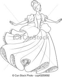eps vectors ball dance cinderella coloring