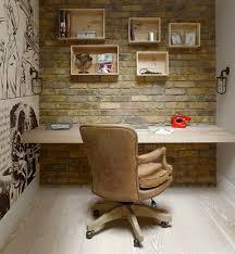 bureau bois de bureau brique bois cuir daily