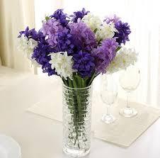 Fake Flowers For Home Decor Silk Hyacinth Flower Artificial Solar Power Flowers For Wedding
