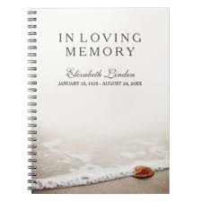 guest sign in book for funeral in loving memory gifts on zazzle