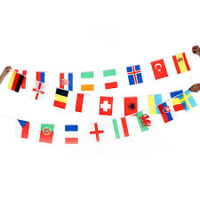 Flag Hanging 2018 Anself 2016 European Cup 24 Countries World String Flag