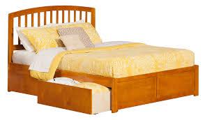 Richmond Bed Frame Richmond Caramel Latte Platform Bed By Atlantic Furniture