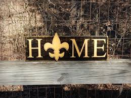 new orleans saints home sign louisiana saints rustic home
