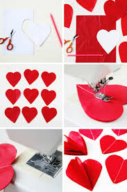 heart decorations diy 3d s day tissue paper heart decorations gathering
