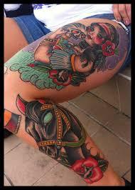 tattoo on thigh ideas neotraditional leg tattoo on tattoochief com amazing tattoos