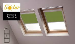 Solar Powered Window Blinds Solar Powered Velux Skylight Blinds From Bloc Blinds