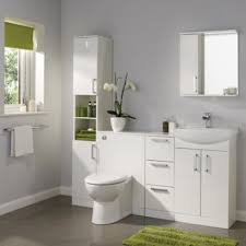2 Basin Vanity Units Ardenno Gloss White Vanity Unit U0026 Basin Set Image 2 Bathroom