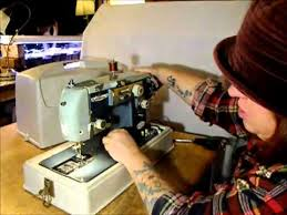 alden manual zigzag sewing machine demonstration youtube