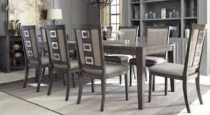 chadoni gray rectangular extendable dining room set from ashley