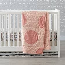 pink polka dot crib bedding the land of nod