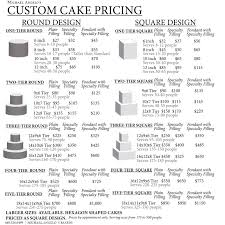 wedding cakes cost image detail for wedding cake price table cakes