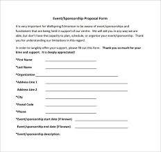 Sponsorship Template sponsorship template 15 free word excel pdf format