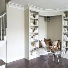 wholesale home interior reading corner corner built in bench between bookcases